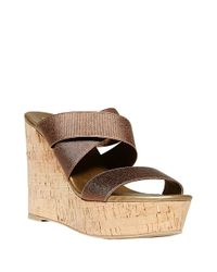 Steven by Steve Madden - Metallic Freezee Wedge Sandals - Lyst