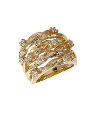 Effy - Metallic Diamond And 14k Yellow Gold Ring, 0.98 Tcw - Lyst
