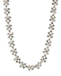 Anne Klein | Metallic Crystallized Silvertone Collar Necklace | Lyst