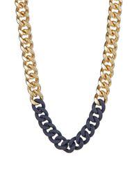 ABS By Allen Schwartz | Metallic Chain-link Collar Necklace | Lyst