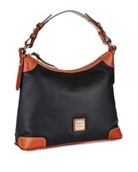 Dooney & Bourke | Black Pebbled Leather Hobo Bag | Lyst