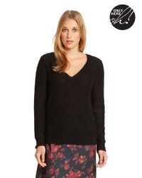 424 Fifth | Black V Neck Sweater | Lyst