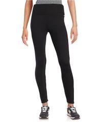 Calvin Klein   Black Stretch Knit Pants   Lyst