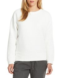 424 Fifth | White Textured Sweatshirt | Lyst