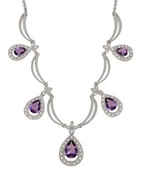 Lord & Taylor | Purple Diamond And Amethyst Sterling Silver Necklace | Lyst