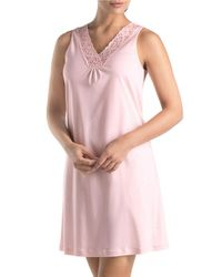 Hanro | Pink Moments Tank Gown | Lyst