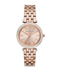 Michael Kors | Metallic Mini Darci Pavé Rose Goldtone Stainless Steel Bracelet Watch | Lyst