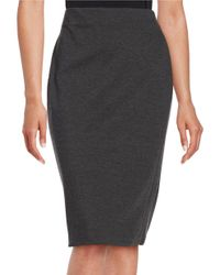 Vince Camuto | Gray Petite Knit Pencil Skirt | Lyst