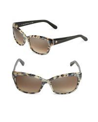 kate spade new york   Brown 55mm Johanna Cat Eye Sunglasses   Lyst