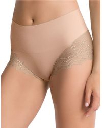 Spanx - Natural Lace Hi-rise Hipster Panty - Lyst