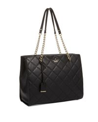kate spade new york - Black Emerson Place Phoebe Quilted Leather Tote - Lyst