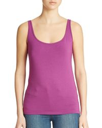 Lord & Taylor - Blue Plus Iconic Fit Slimming Scoopneck Tank - Lyst
