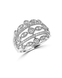 Effy | Metallic Diamond And 14k White Gold Open Ring, 0.88tcw | Lyst