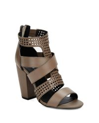 Kelsi Dagger Brooklyn - Gray Ballard Perforated Leather Sandals - Lyst