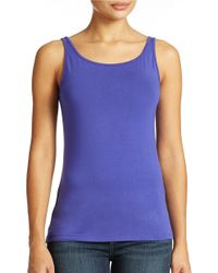 Lord & Taylor | Purple Plus Iconic Fit Slimming Tank Top | Lyst
