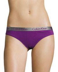 Calvin Klein | Purple Radiant Cotton Bikini Panties | Lyst