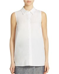 Lord & Taylor | White Petite Button-back Blouse | Lyst