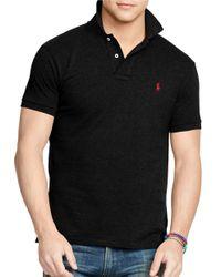 Polo Ralph Lauren   Black Slim-fit Mesh Polo for Men   Lyst