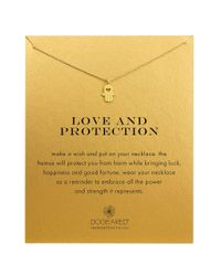 Dogeared - Metallic Love And Protection 14k Gold-dipped Hamsa Necklace - Lyst