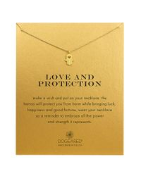Dogeared | Metallic Love And Protection 14k Gold-dipped Hamsa Necklace | Lyst