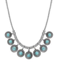 Lucky Brand | Blue Silver-tone Reconstituted Turquoise Collar Necklace | Lyst