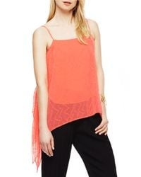 Vince Camuto | Multicolor Dotted Draped Tank | Lyst
