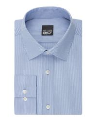 William Rast | Blue Slim Fit Stripe Dress Shirt for Men | Lyst