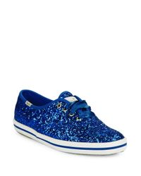 kate spade new york   Blue Keds For Kate Spade Glitter Sneakers   Lyst