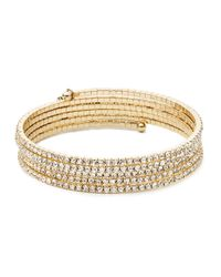 Anne Klein | Metallic Goldtone Multi-strand Bangle | Lyst
