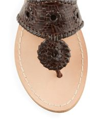 Jack Rogers | Brown Willow Leather Sandals | Lyst