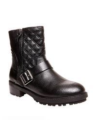 Steve Madden | Black Rivalree Quilted Leather Mid-calf Boots | Lyst