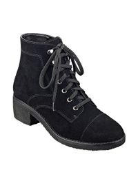Marc Fisher | Natural Donnell Suede Booties | Lyst