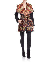 Pendleton   Black Wool-blend Flyaway Coat   Lyst