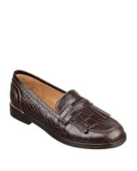 Marc Fisher | Brown Roryer Leather Fringe-accented Loafers | Lyst