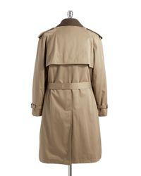 Hart Schaffner Marx   Brown Warmer Accented Trench Coat for Men   Lyst