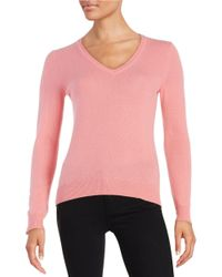 Lord & Taylor | Black Plus Basic V-neck Cashmere Sweater | Lyst