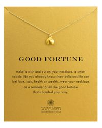 Dogeared | Metallic Reminders Good Fortune Goldplated Sterling Silver Pendant Necklace | Lyst
