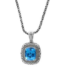 Effy | Blue Topaz And Sterling Silver Pendant Necklace | Lyst