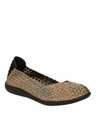 Steven by Steve Madden | Multicolor Basketwoven Flats | Lyst