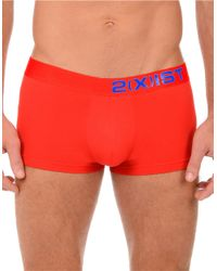2xist | Red Electric No Show Trunks for Men | Lyst