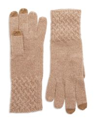 Lord & Taylor | Brown Knit Cuff Cashmere Gloves | Lyst