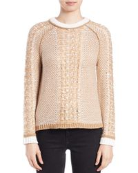 Lord & Taylor | Natural Raglan-sleeve Jacquard Sweater | Lyst
