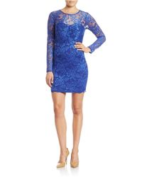 Guess | Multicolor Lace-overlay Sheath Dress | Lyst