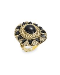 House of Harlow 1960 - Black Starburst And Pave Cocktail Ring - Lyst