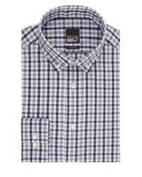 William Rast - Blue Slim Fit Plaid Dress Shirt for Men - Lyst
