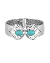 The Sak | Multicolor Stone Hinge Cuff Bracelet | Lyst