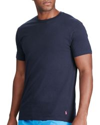 Polo Ralph Lauren | Blue Jersey Crewneck Tee 3-pack for Men | Lyst