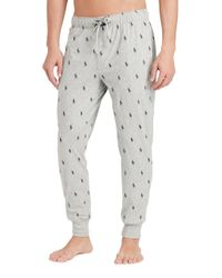 Polo Ralph Lauren - Gray Pony-print Jersey Jogger Pants for Men - Lyst