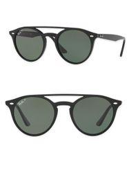 Ray-Ban | Black 51mm Phantos Round Sunglasses | Lyst