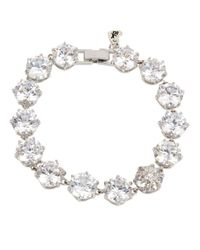 Betsey Johnson - Metallic Foldover Tennis Bracelet - Lyst
